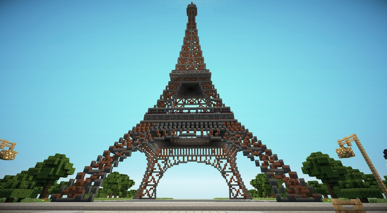 paris-eiffel-tower-minecraft-day
